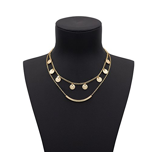 Boosic Golden layered Charm Necklace