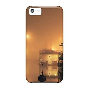 New Foggy Harbor At Night Tpu Case Cover, Anti-scratch StarFisher Phone Case For Iphone 5c