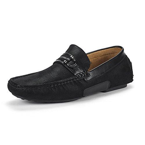BRUNO MARC NEW YORK Men's Santoni-05 Black Penny Loafers Moccasins Shoes Size 12 M US - Moccasin Mens Shoes