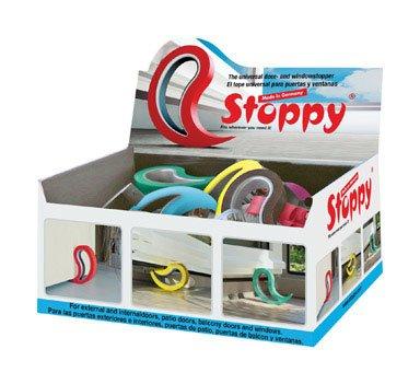 Stoppy 1 in. H Rubber Assorted Wedge Door Stop Mounts to Floor by FLUX PRODUCTS LLC