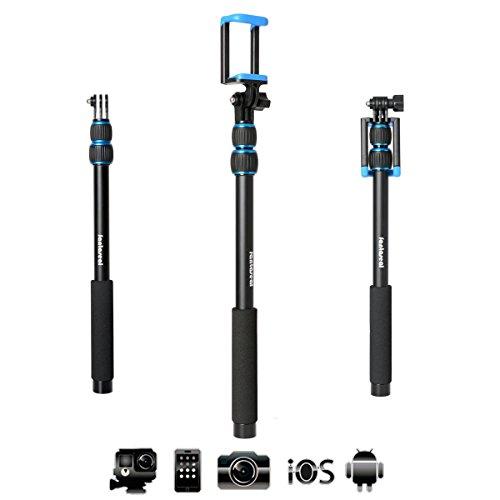 fantaseal x sport selfie stick action camera selfie stick cell phone selfie pole for gopro. Black Bedroom Furniture Sets. Home Design Ideas