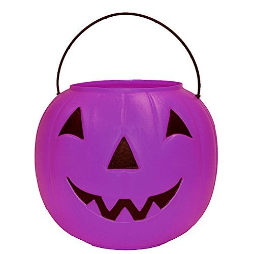 Halloween Pumpkin Candy Bucket - Purple -