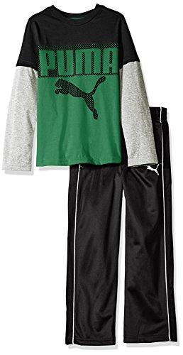 PUMA Boys 2-Piece Long Sleeve Tee and Pant Set