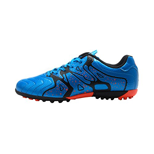 Kids' Indoor Soccer Football Shoes - Patent Synthetic Leather - Turf, Indoor (1 M US Little Kid, Star Blue) (Indoor Soccer Shoes For Youth)