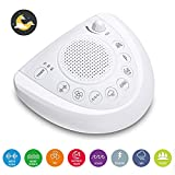 White Noise Sound Machine, Sleep Relax Sound Machine with 8 Soothing Nature Sounds,Ocean,Wave,Rain,Forest Sound,3 Auto-Off Timer Option,Battery or Adapter Operated-White