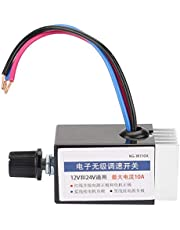 DC 12V/24V Universal Motor Electronic Stepless Speed Controller Switch for Car Truck Fan Heater Control