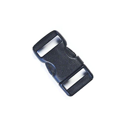 Flat Plastic Black 3 8  Straight Side Release Buckle