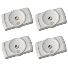 Mr. Beams MB854 Indoor Wireless Slim LED Light with Motion Sensor Features, White, 4-Pack