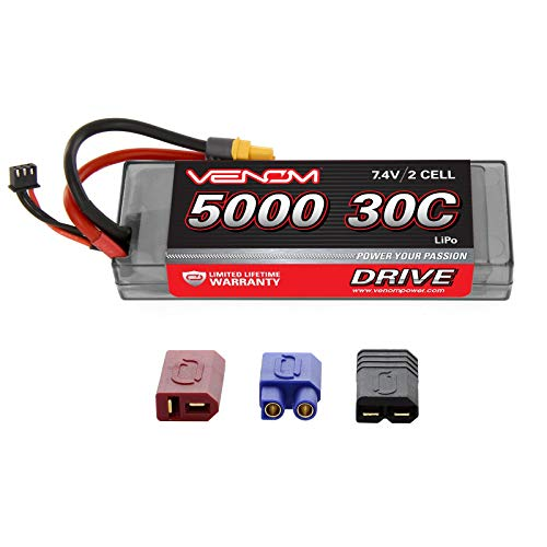 Venom Racing 15149 Drive 30C 2S 5000mAh 7.4V LiPo Hardcase Roar Battery with Uni 2.0 Plug