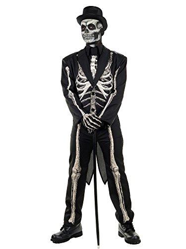 Pizazz! Men's Dead Bones, Black/White, Standard -