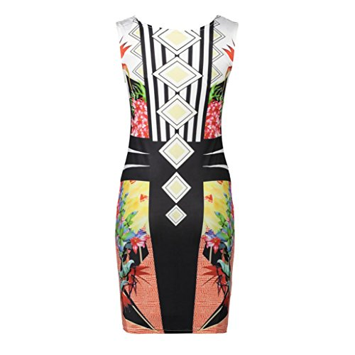 Bodycon Party 1 Yb Dress Misaky Bandage Evening multicolor Dresses Cocktail Sleeveless Women w6HT0xqX4