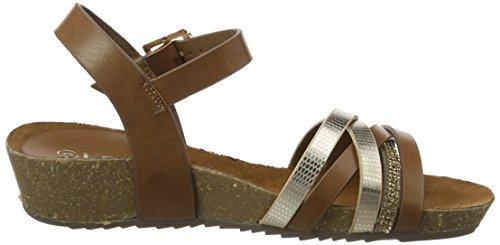 Lotus Women's Pika Sling Back Sandals, Brown (Tan/Gold), 7 UK 41 EU