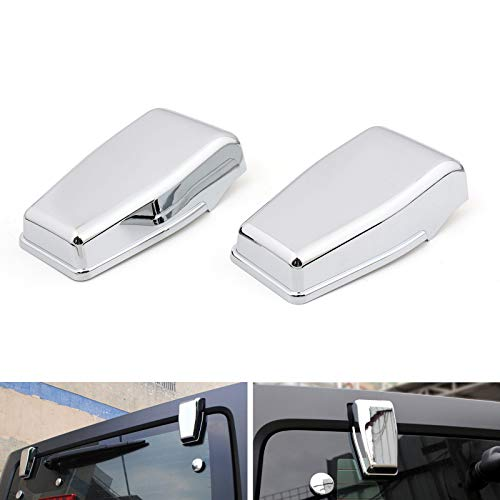 - Artudatech Chrome Upper Rear Door Window Hinge Cover Trims for Jeep Wrangler JK 2007-2017