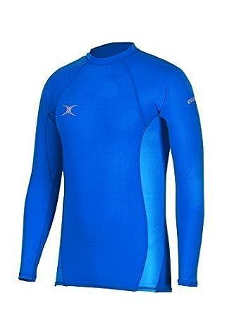 34338bd1ff4dc Gilbert Atomic Costuras Planas Invierno protección Rugby Deporte Camiseta  Interior térmica para Mujer