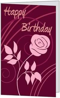 Birthday Wife Sweetie Love You Greeting Card (5x7) by QuickieCards. (Birchcraft Card)