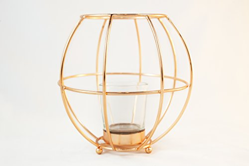 Round Copper Wire Votive Candle Holder - by Alchemade