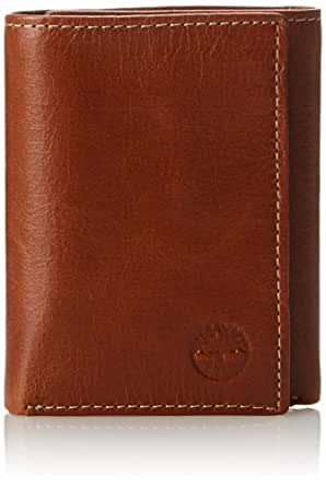 Timberland Deep Cognac Buff Apache Trifold Leather Wallet