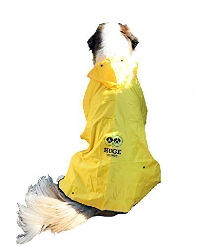 Huge Hounds Extra Large Hugehounds Dog Raincoat by for XL Large Dogs - The Rain Rover Raincoat and Travel Bag by Huge Hounds