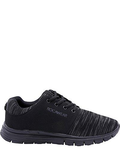 Rocawear Rocawearâ Mens Ajustement Espace Dye Jersey En Tricot Sneakers Noir