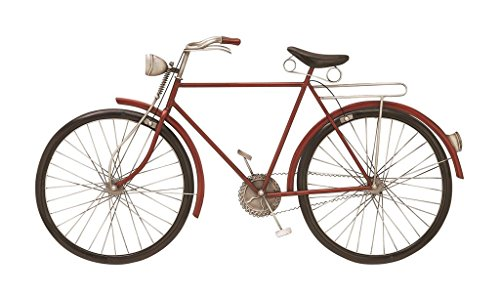 Deco 79 65528 Metal Red Bike Wall - Bike Art
