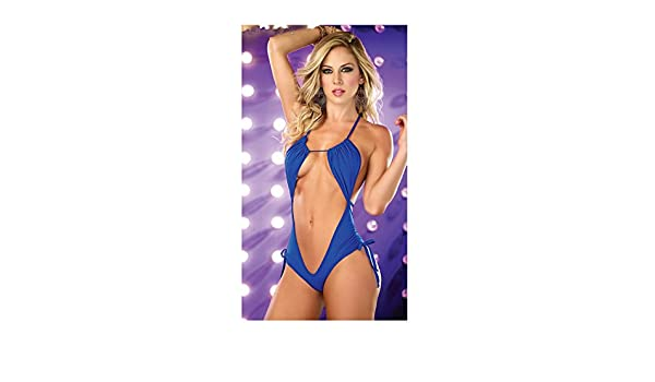 Amazon.com: Sexy erotic lingerie ropa interior mujer luru open crotch porno bikini jumpsuit (Blue): Home Improvement