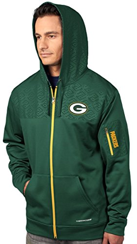 Base Therma Sweatshirt (VF Green Bay Packers Majestic Action Men's F/Z Therma Base Hooded Sweatshirt)