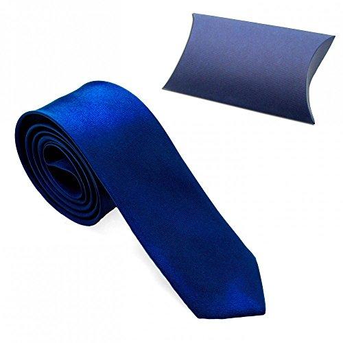 1 Cravatta Corbata Corbatas Tie Moderna 23 Modelos Mirada Seda Hombre Delgado Poliéster Traje Carnaval Negro Blanco Azul dunkelblau + Etui / darkblue + giftbox