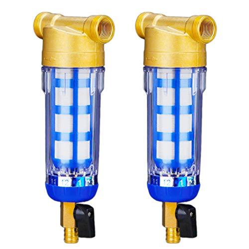 Baoblaze Sistema de Prefiltro de Agua de 2 Piezas/Filtro de Agua de Sedimento con Reduccion de Volumen Reutilizable, Apto para 1/2 Pulgada