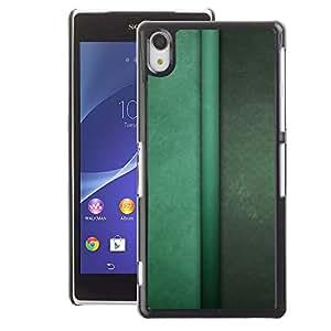 A-type Arte & diseño plástico duro Fundas Cover Cubre Hard Case Cover para Sony Xperia Z2 (Vertical Lines Green Pastel Calm)