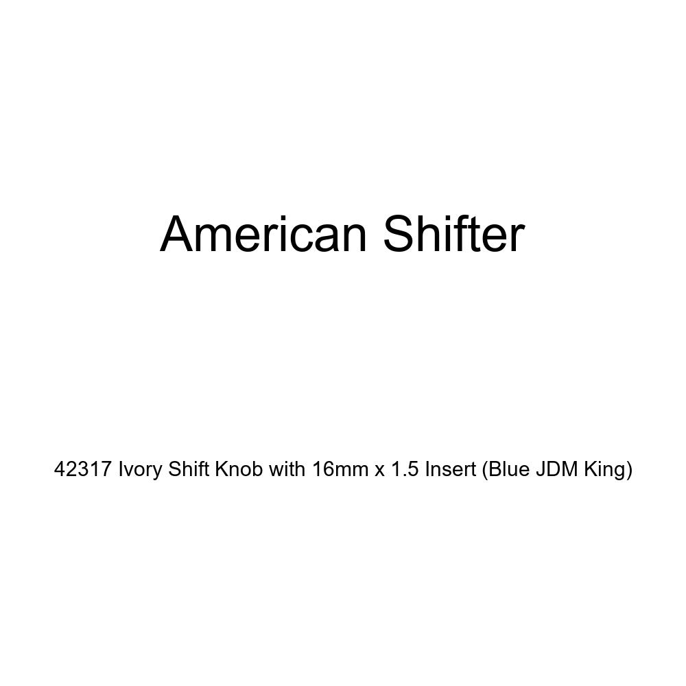 American Shifter 42317 Ivory Shift Knob with 16mm x 1.5 Insert Blue JDM King