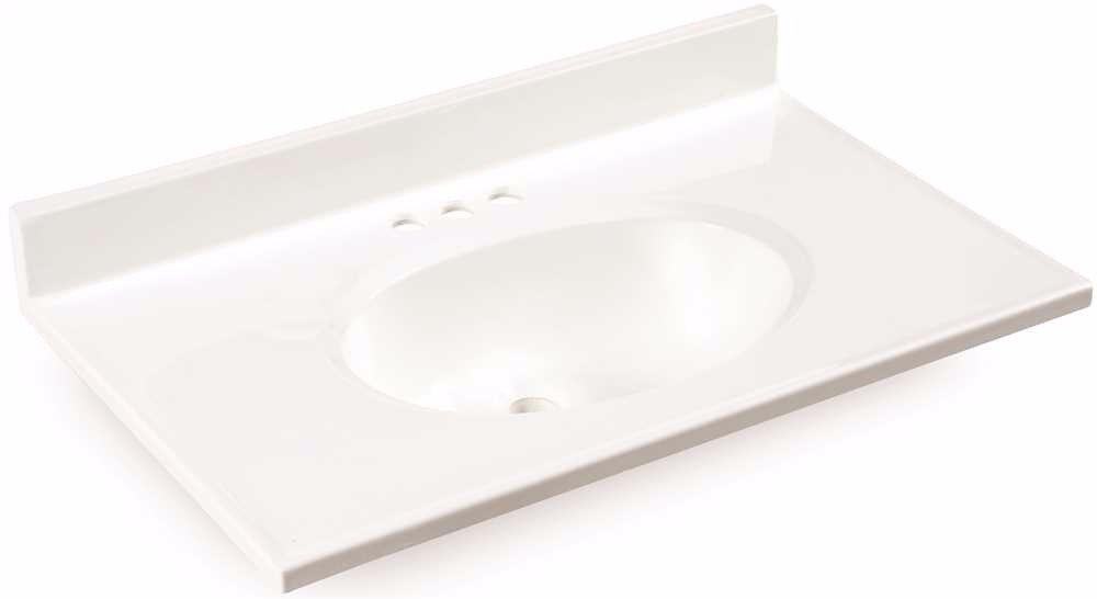 Tremendous Premier Bathroom Vanity Top Cultured Marble White 37 In Beutiful Home Inspiration Semekurdistantinfo