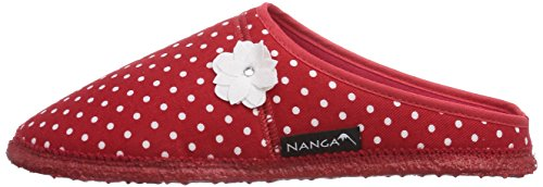 Imbottite 0175 20 damen rot 10 Non 20 Pantofole wolle Nanga Donna Rosso jasmina 1wOnx