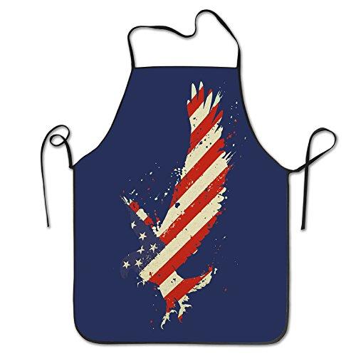 US Flag Eagle Splash 138 Aprons Chef Personalized Kitchen Aprons Blue Apron - American Eagle Apron