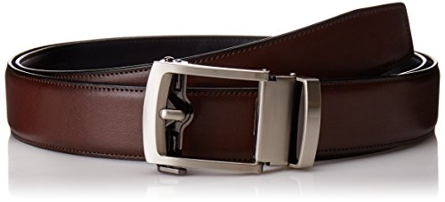 Exact Fit Men's 1.3 in Perfect Fit Adjustable Ratchet Belt, brown, One...