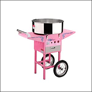 Great Northern Popcorn Commercial Quality Cotton Candy Machine and Electric Candy Floss Maker with Cart