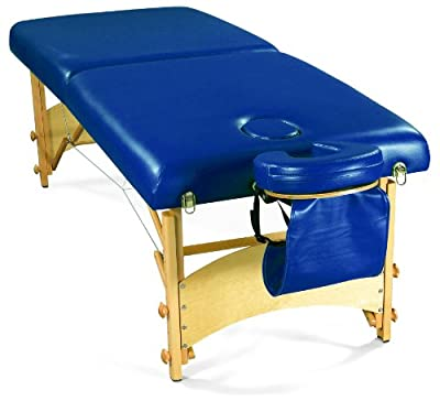 "3B Scientific W60602B Blue Deluxe PorTable Massage Table, 72.5"" Length x 29"" Width"