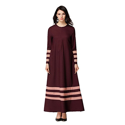 Zhuhaixmy Damen Muslim Kleider Kaftan Abaya Islamic Lange Ärmel ...