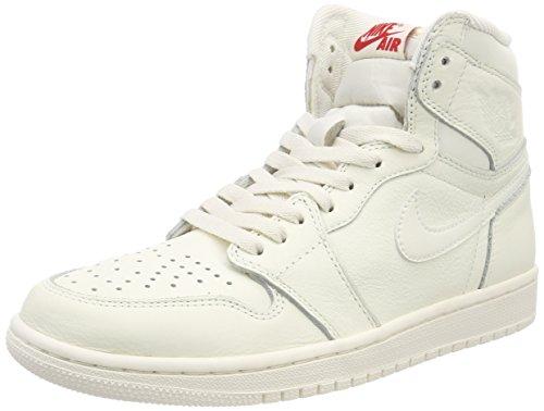 Nike Mens Air Jordan 1 Mitten Basket Sko Segel / Universitet Röd
