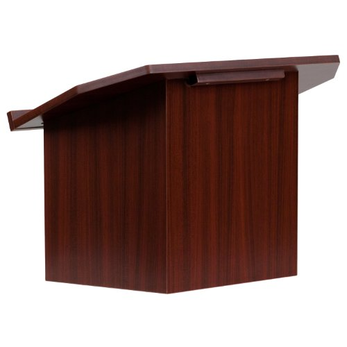 Flash Furniture Foldable Tabletop Lectern in Mahogany