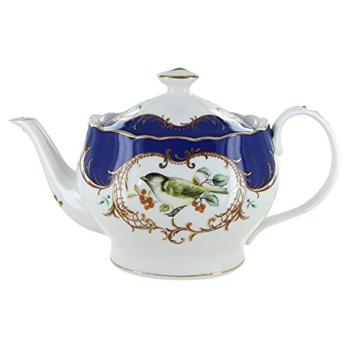 Royal Blue Bird Porcelain - 5 Cup Teapot