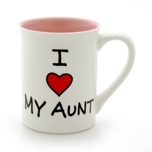 Our Name Is Mud 16-Ounce 'I Heart My Aunt' Mug by Lorrie Veasey, 4.5-Inch