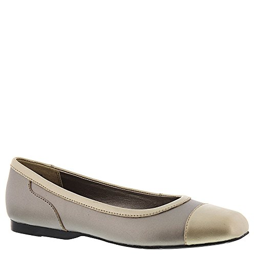 Array Frauen Madison Leder Ballerinas, Flach Metallic