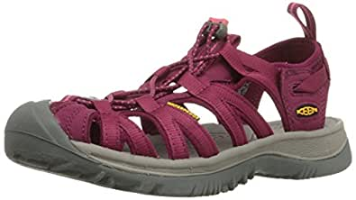 KEEN Women's Whisper Sandal,Beet Red/Honeysuckle,5 M US