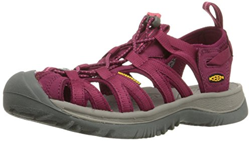 KEEN Women's Whisper Sandal,Beet Red/Honeysuckle,9 M US by KEEN