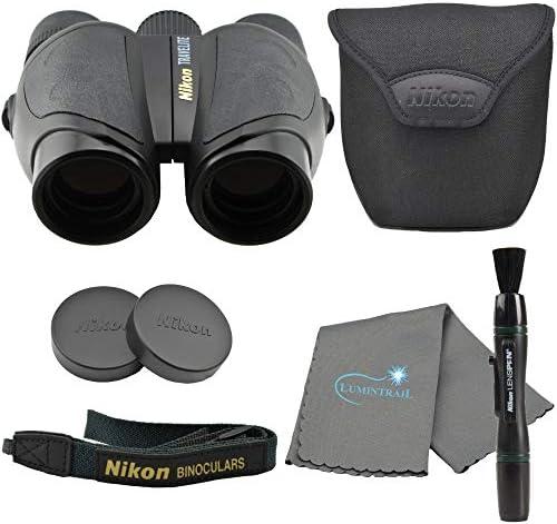 Nikon Travelite 10×25 Compact Binoculars 7278 , Black Bundle with Nikon Lens Pen and Lumintrail Cleaning Cloth