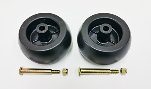 2 Deck Wheels + Shoulder Bolts, Lock Nuts For 133957 174873 532133957 532174873 Craftsman Poulan Husqvarna. MTD 734-03058, 753-04856. Murray 92683, 92265. John Deere M84690. Ariens 03471700, 03905600