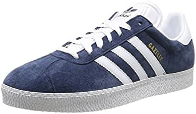 adidas Gazelle II - Zapatillas deportivas para hombre, color azul marino/blanco, talla 43 1/3