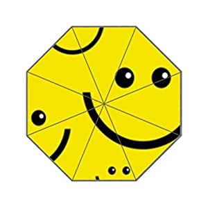 Cara sonriente Reina cambiador de plegable sol lluvia anti-UV paraguas diseño de moda