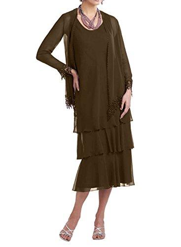 Chiffon Etuikleider Brautmutterkleider Brau Braun Festlichkleider La mia Langes Promkleider Abendkleider Partykleider xfXtq1