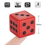 Leegoal Mini Camera, 1080P HD Portable Sports Camera with Night Vision, Motion Detector, Loop Video Recording, One-Key Control, for Bedroom, Livingroom, Home, Office, Sports, Outdoors, Red